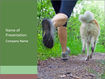 Jogging With Dog PowerPoint Templates - Slide 1