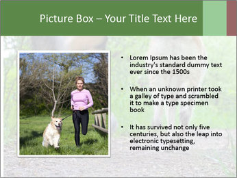 Jogging With Dog PowerPoint Template - Slide 13