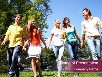 Walk With Friends PowerPoint Template