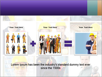 Construction Team Collage PowerPoint Templates - Slide 22