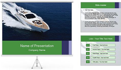 Summer Yacht PowerPoint Template