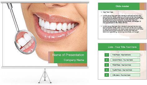 Perfect White Teeth PowerPoint Template