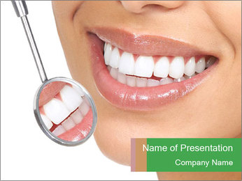 Perfect White Teeth PowerPoint Template - Slide 1