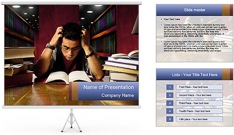 Busy Student PowerPoint Template