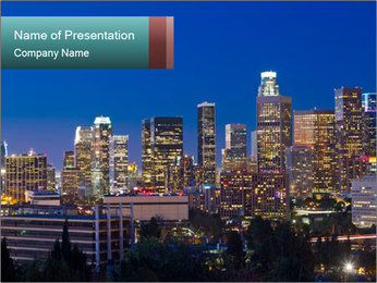 Cityscape At Night PowerPoint Template - Slide 1