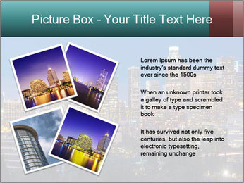 Cityscape At Night PowerPoint Template - Slide 23