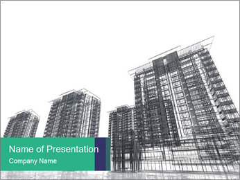 Grey Buildings PowerPoint Template
