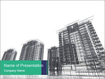 Grey Buildings PowerPoint Template - Slide 1