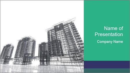 Grey Buildings PowerPoint Template