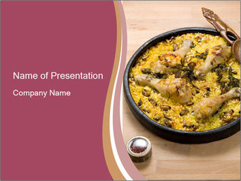 Spanish Dish PowerPoint Template - Slide 1
