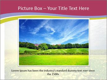 Yellow Summer Field PowerPoint Template - Slide 15