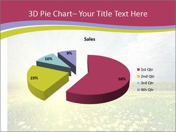 Yellow Summer Field PowerPoint Template - Slide 35