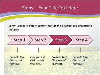 Yellow Summer Field PowerPoint Template - Slide 4