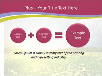 Yellow Summer Field PowerPoint Template - Slide 75