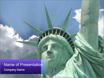 Famous Statue Of Liberty PowerPoint Template - Slide 1