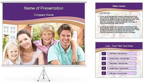 American Family PowerPoint Template