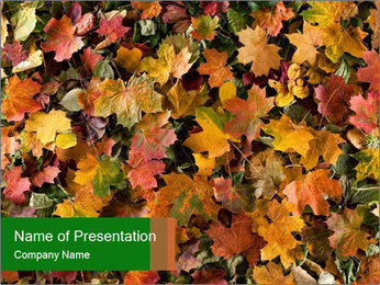 October Leaves PowerPoint Template - Slide 1