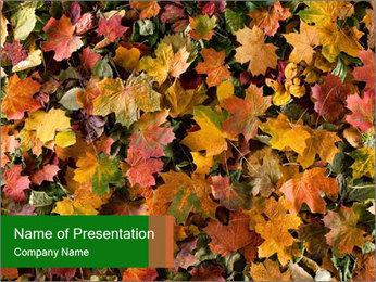 October Leaves PowerPoint Templates - Slide 1