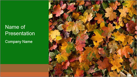 October Leaves PowerPoint Template