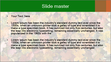 October Leaves PowerPoint Template - Slide 2