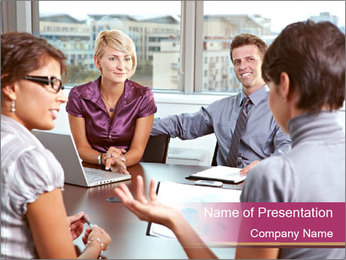 Young Business Team PowerPoint Template - Slide 1