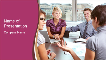 Young Business Team PowerPoint Template