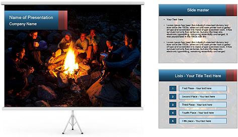 Summer Fire Camp PowerPoint Template