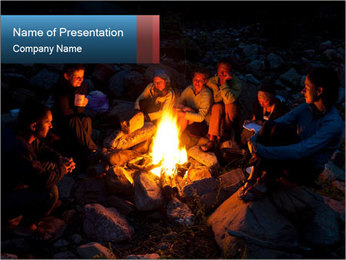 Summer Fire Camp PowerPoint Template - Slide 1