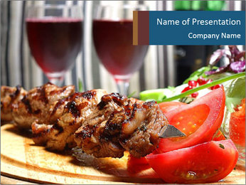 Grilled Kebab PowerPoint Template