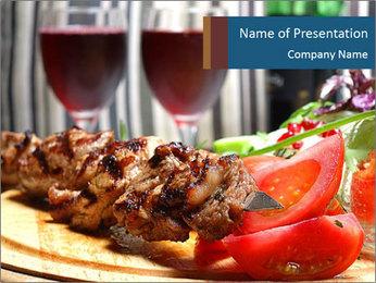 Grilled Kebab PowerPoint Templates - Slide 1