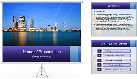 Lights Of Metropolis PowerPoint Template
