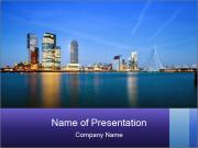 Lights Of Metropolis PowerPoint Templates