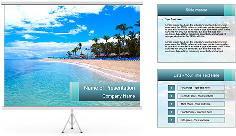Island Summer Vacation PowerPoint Template