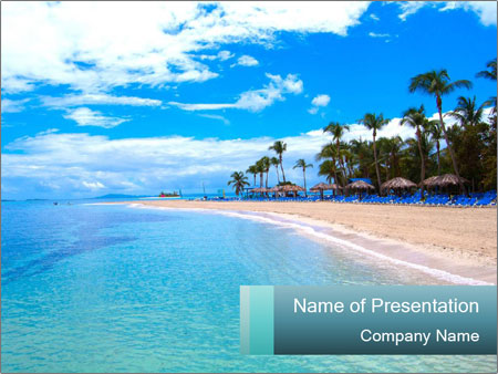 Island Summer Vacation PowerPoint Templates
