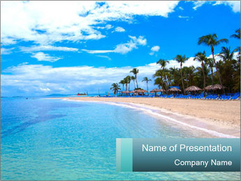 Island Summer Vacation PowerPoint Templates - Slide 1