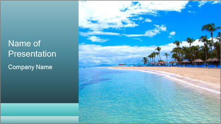 Island Summer Vacation PowerPoint Template