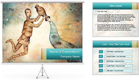 Zodiac Art PowerPoint Template