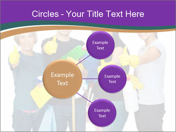 Team Of Female Cleaners PowerPoint Templates - Slide 79