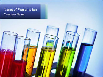 Colorful Lab Tubes PowerPoint Template - Slide 1