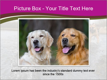 Three Running Dogs PowerPoint Template - Slide 16