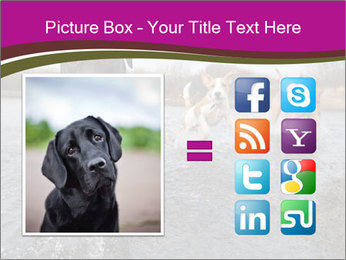 Three Running Dogs PowerPoint Template - Slide 21