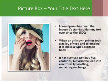Blond Photo Model PowerPoint Template - Slide 13