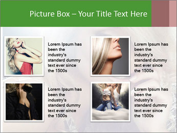 Blond Photo Model PowerPoint Template - Slide 14