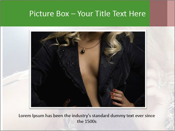 Blond Photo Model PowerPoint Template - Slide 15