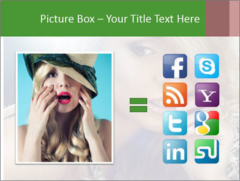 Blond Photo Model PowerPoint Template - Slide 21