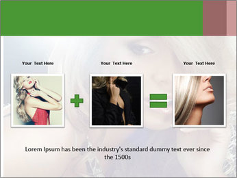 Blond Photo Model PowerPoint Template - Slide 22
