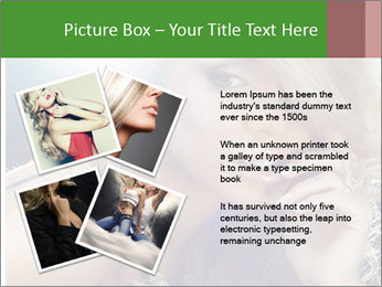 Blond Photo Model PowerPoint Template - Slide 23