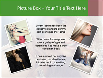 Blond Photo Model PowerPoint Template - Slide 24