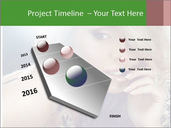 Blond Photo Model PowerPoint Template - Slide 26