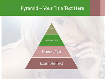 Blond Photo Model PowerPoint Template - Slide 30